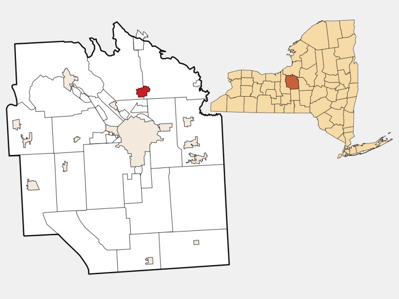 North Syracuse locator map