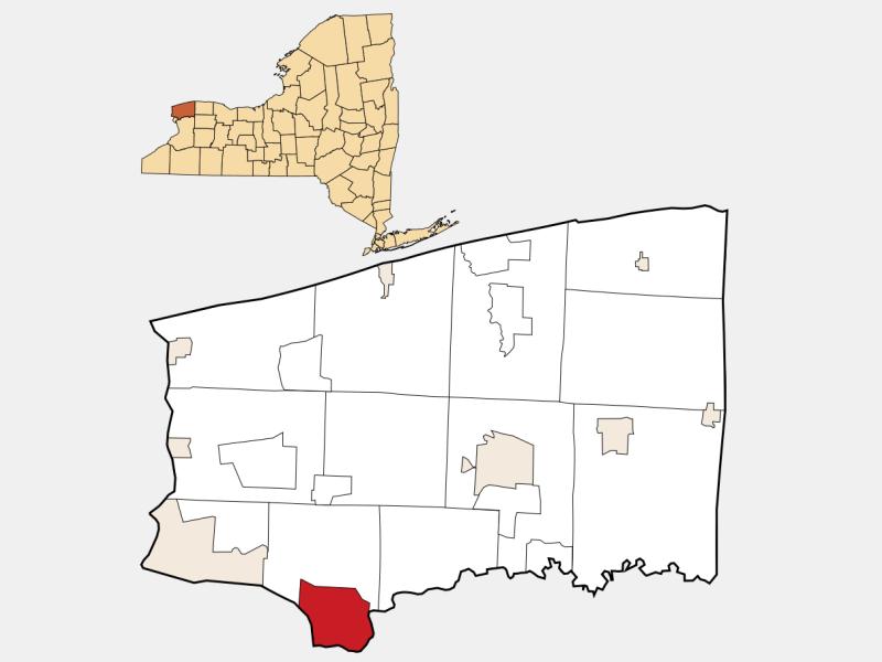 North Tonawanda, NY locator map