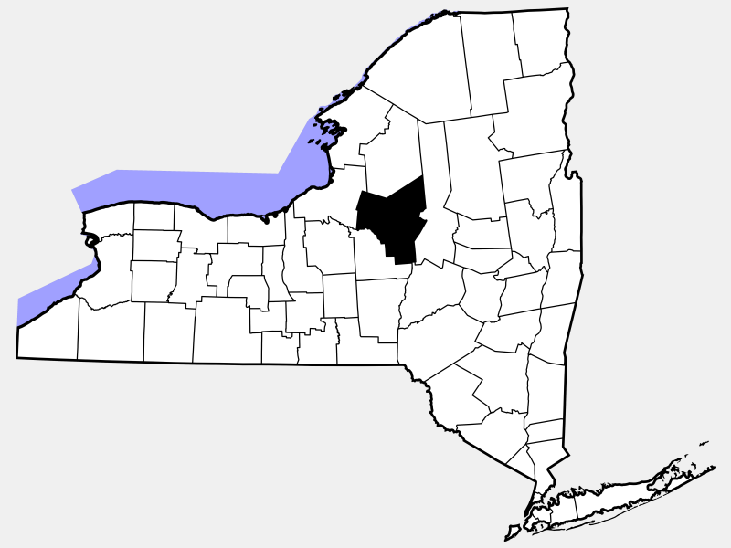 Oneida County, NY locator map