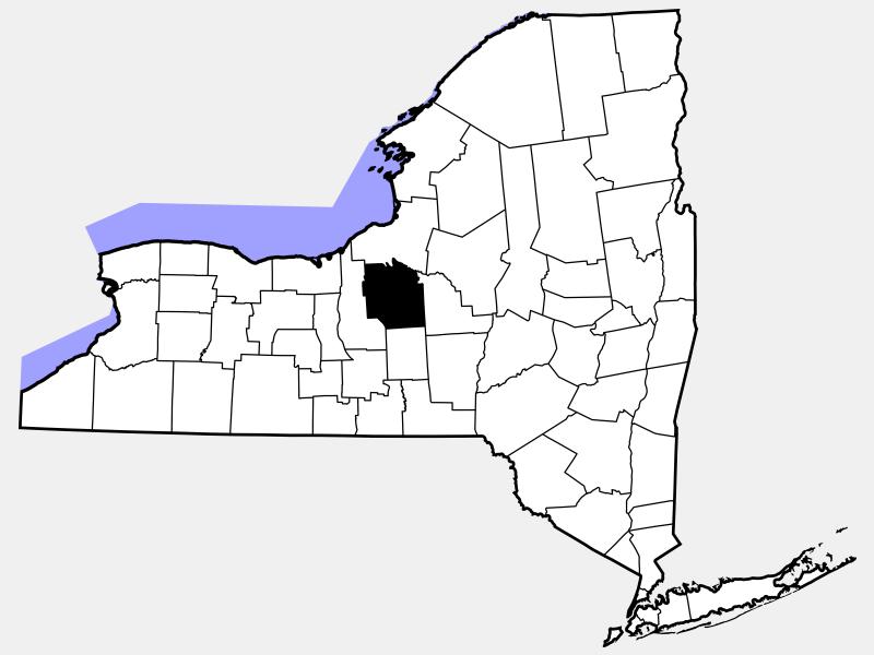 Onondaga County locator map