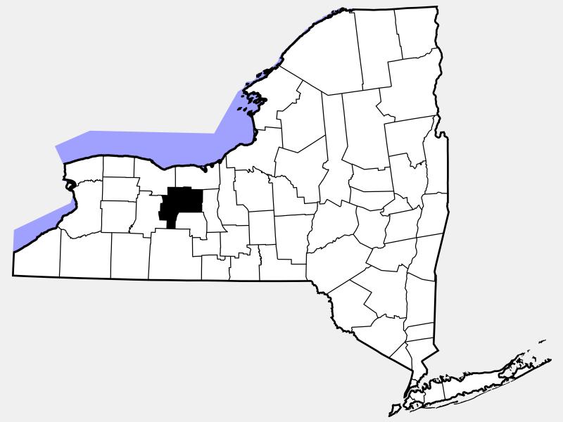 Ontario County locator map