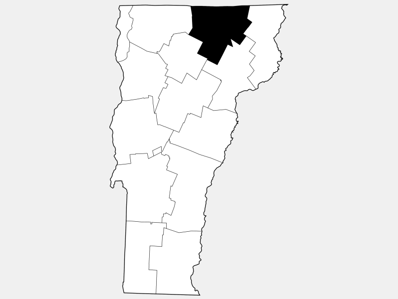 Orleans County locator map