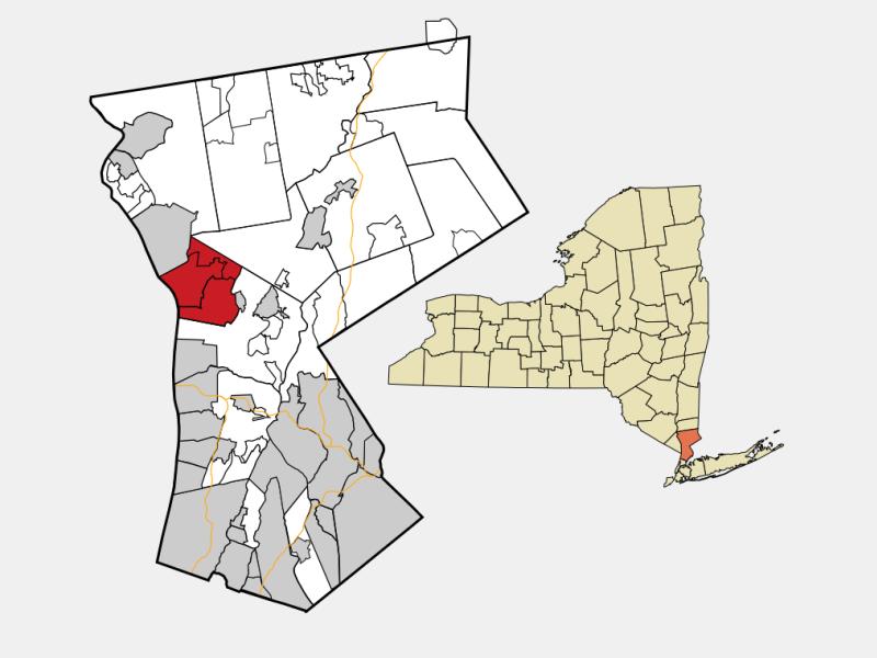 Ossining locator map