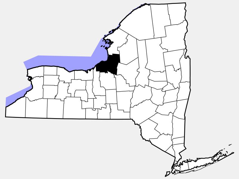 Oswego County locator map