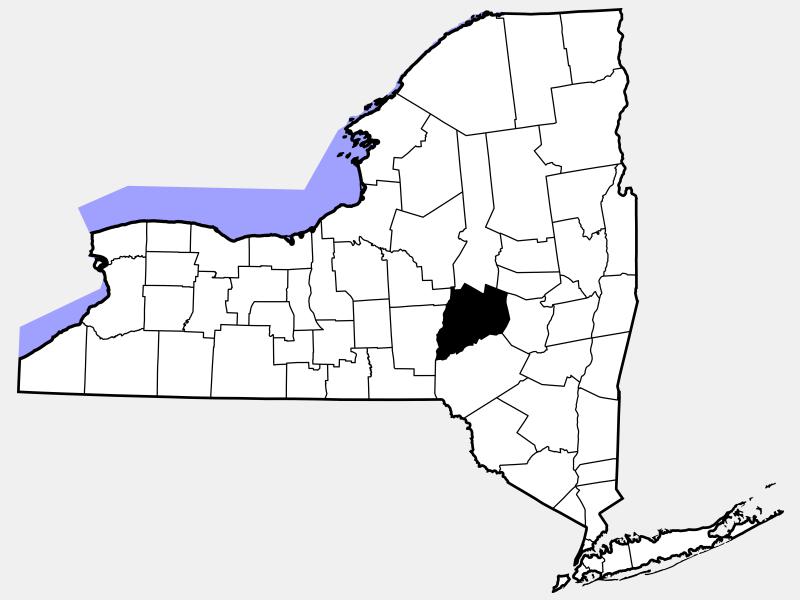 Otsego County, NY locator map