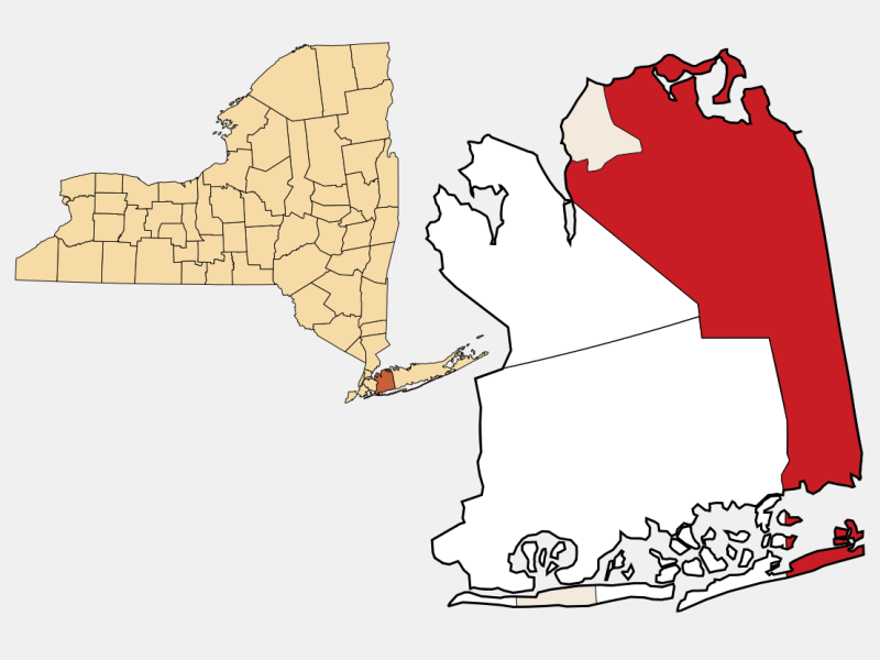 Oyster Bay locator map