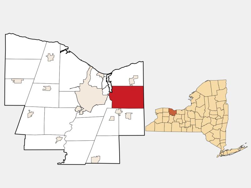 Penfield, NY locator map