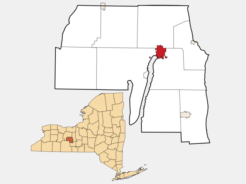 Penn Yan location map