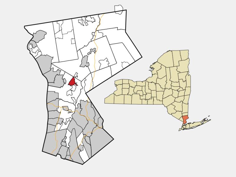 Pleasantville locator map