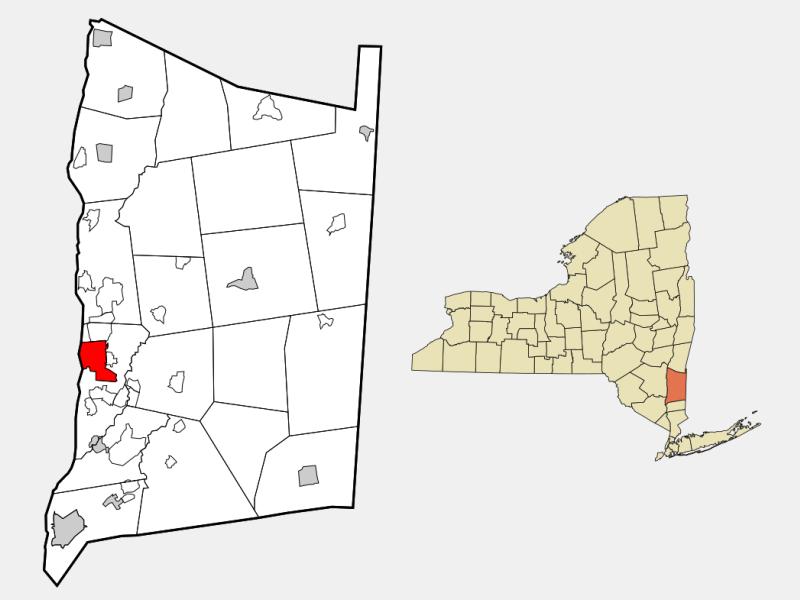 Poughkeepsie locator map