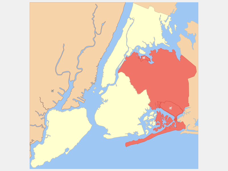 Queens location map