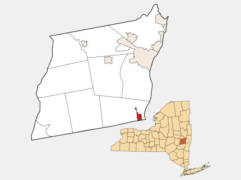 Ravena locator map
