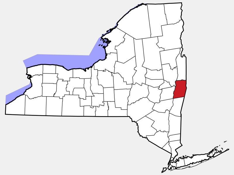 Rensselaer County, NY locator map