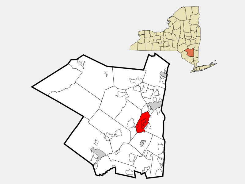 Rosendale locator map
