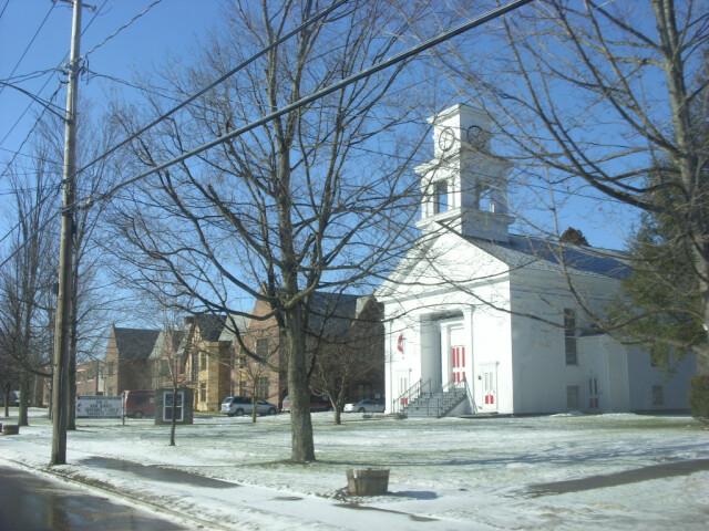 Roxbury Central School and Methodist Church Feb 09 image