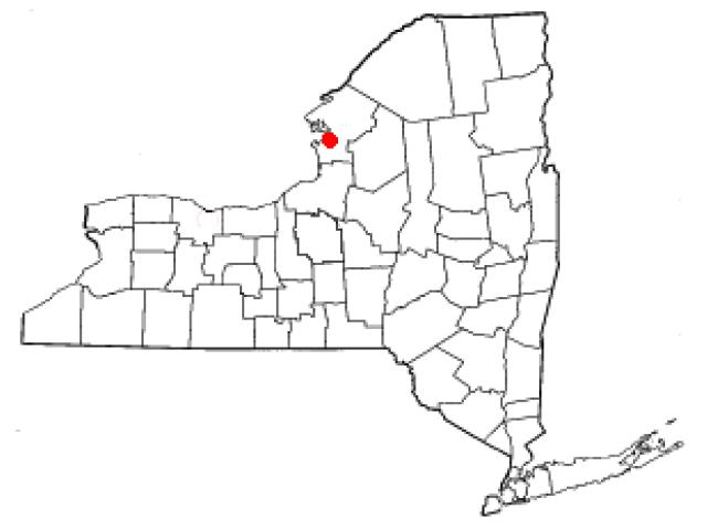 Sackets Harbor locator map