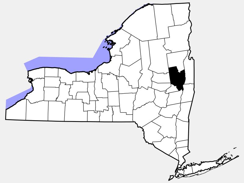Saratoga County locator map