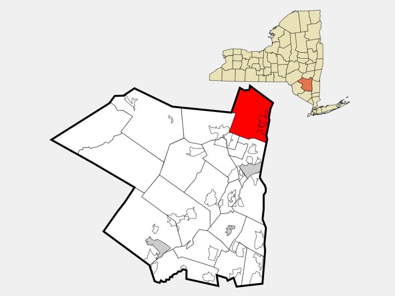Saugerties locator map