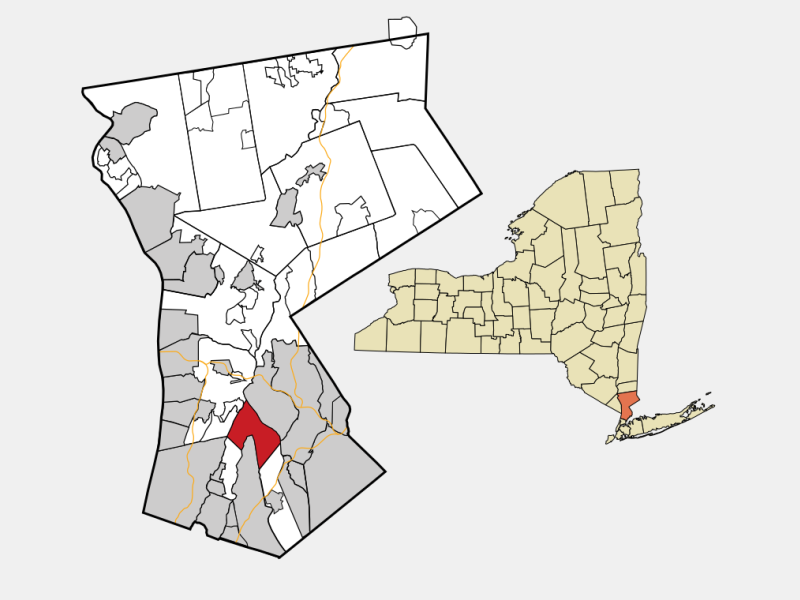 Scarsdale, NY locator map