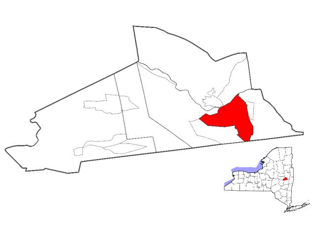 Schenectady locator map