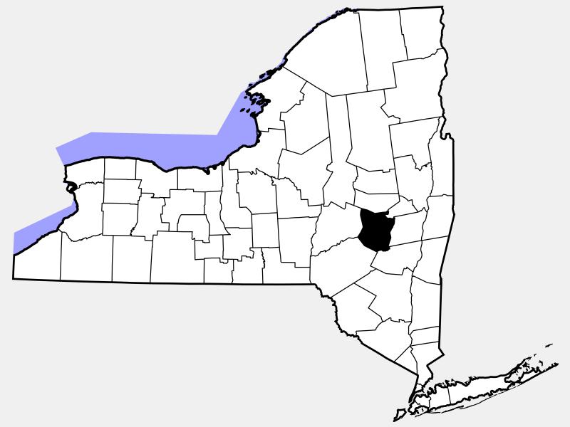 Schoharie County locator map
