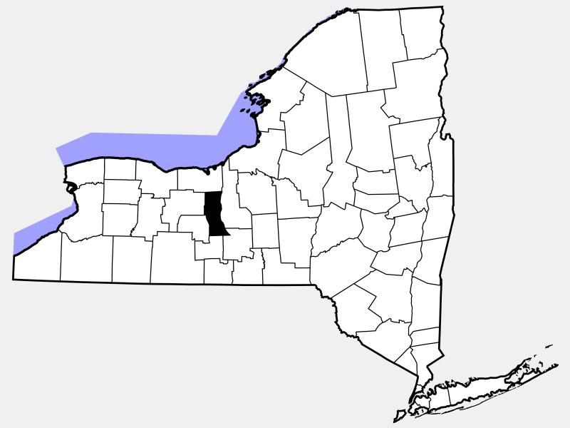 Seneca County locator map