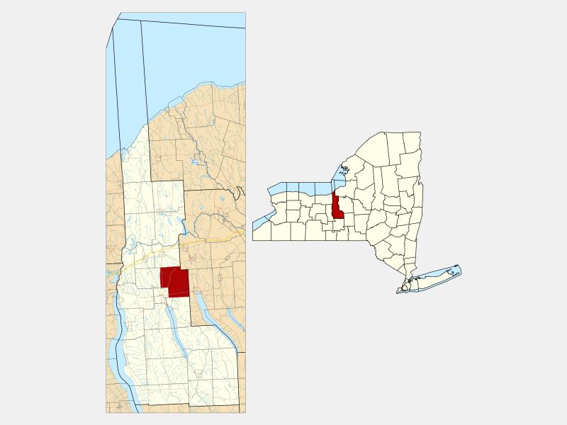 Sennett locator map