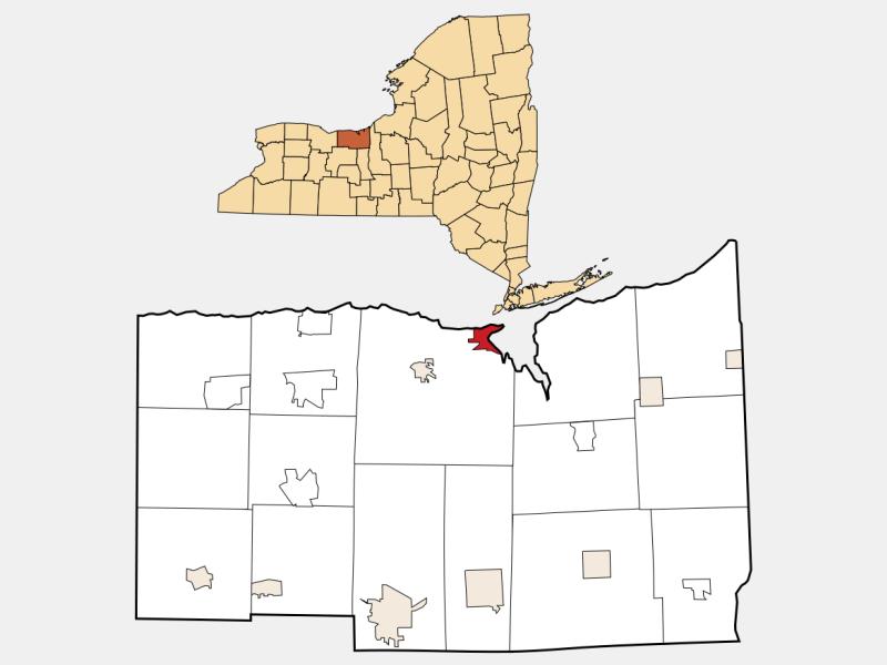 Sodus Point location map