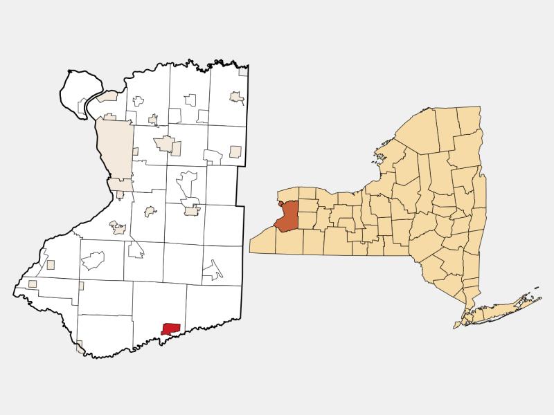 Springville locator map
