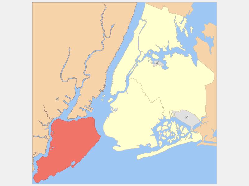 Staten Island, NY locator map