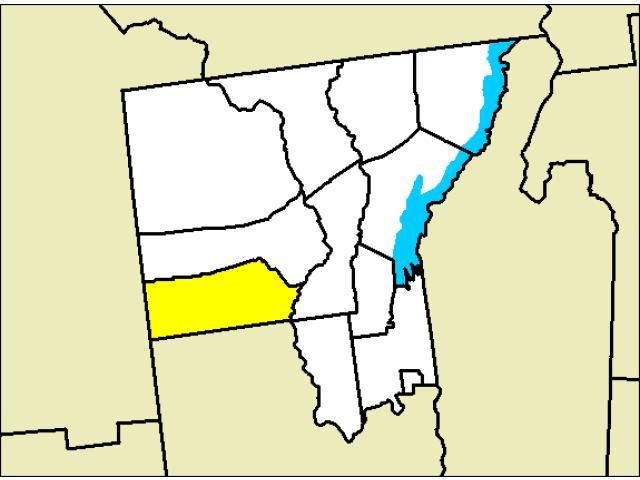 Stony Creek locator map