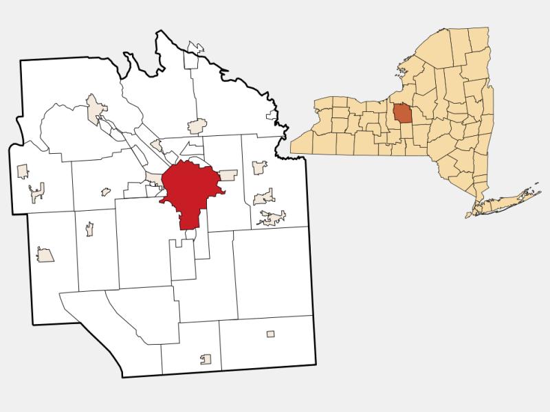 Syracuse, NY locator map