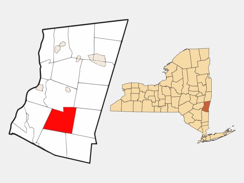 Taghkanic locator map