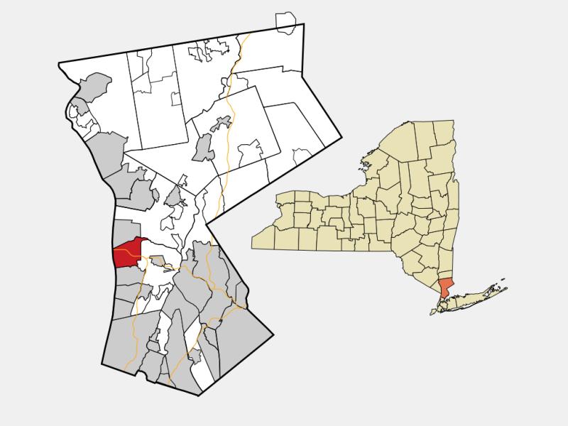 Tarrytown locator map