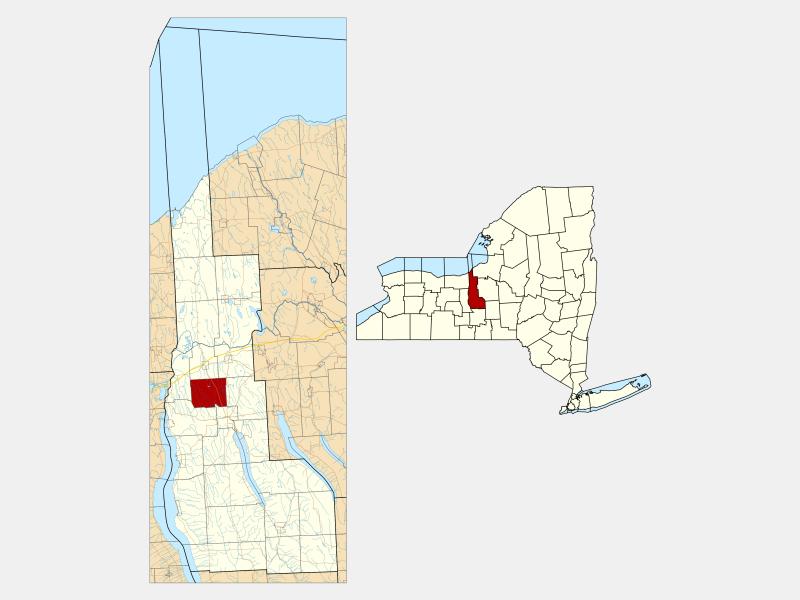 Throop locator map