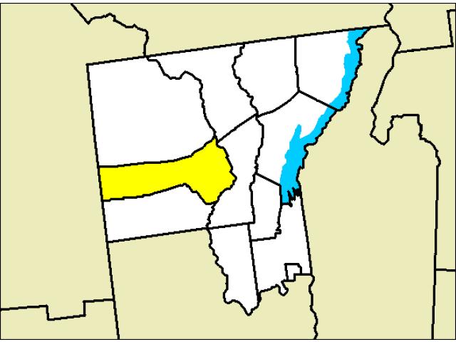 Thurman locator map