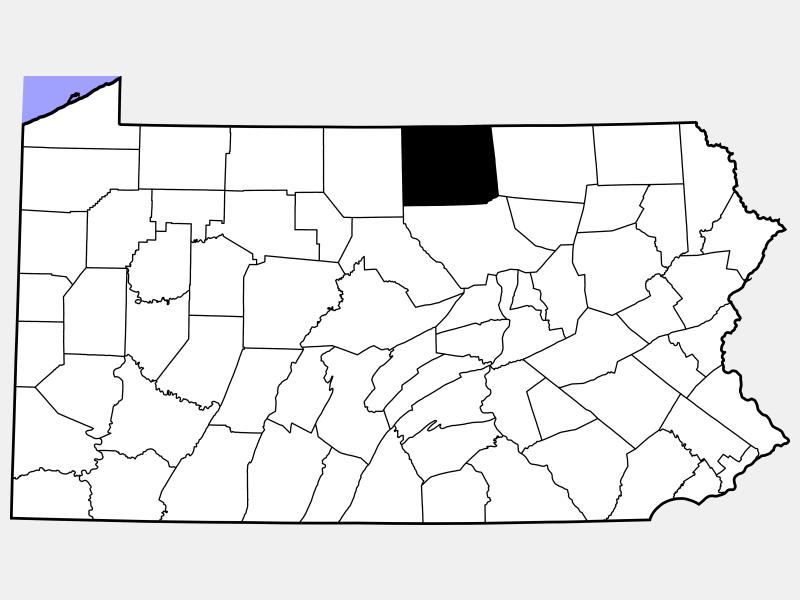 Tioga County locator map