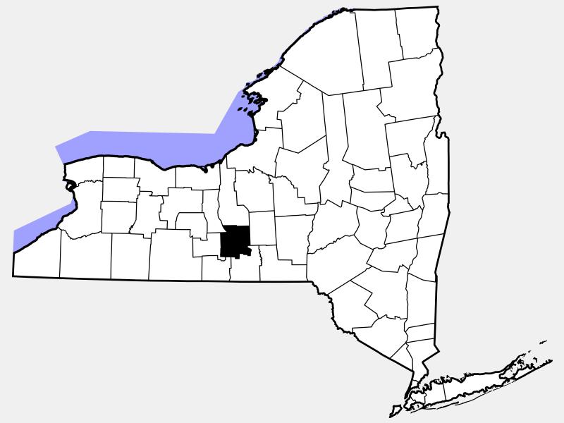 Tompkins County locator map