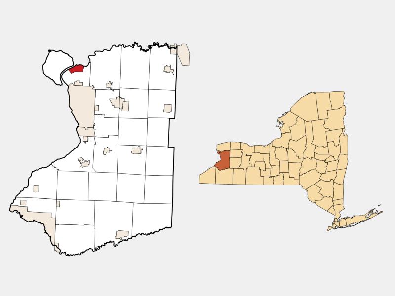 Tonawanda, NY locator map