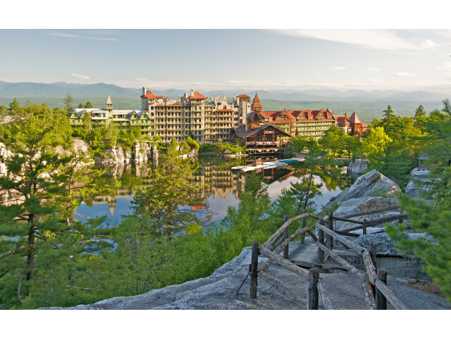Mohonk Mountain House 2011 View of Mohonk Guest Rooms from One Hiking Trail FRD 3205 image