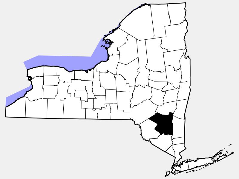 Ulster County locator map