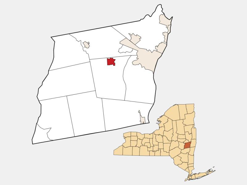 Voorheesville locator map