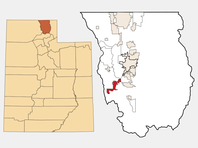 Wellsville locator map
