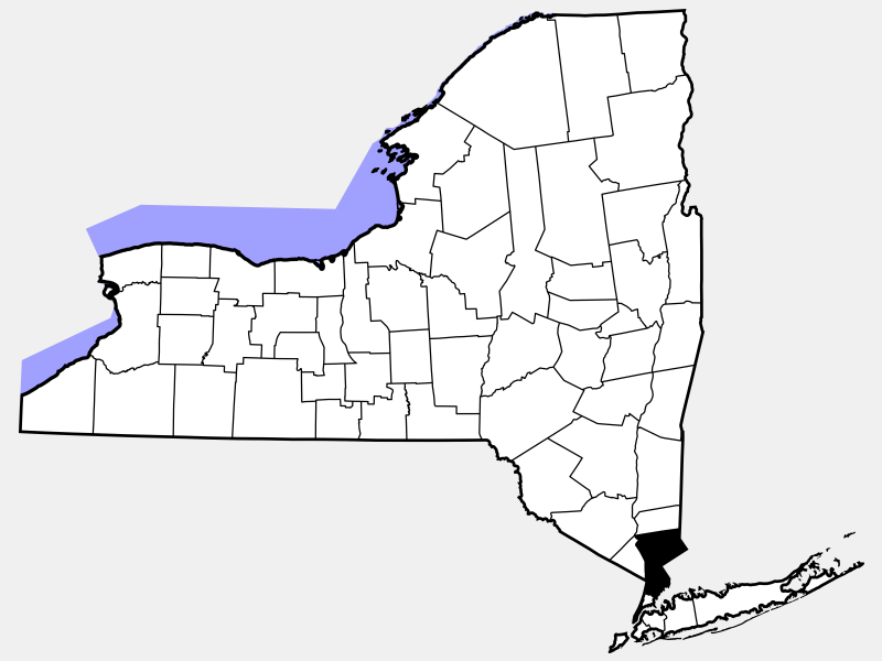 Westchester County locator map