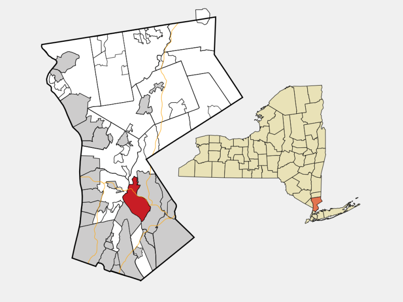 White Plains locator map