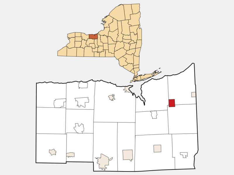 Wolcott locator map
