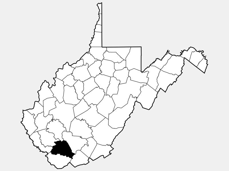 Wyoming County locator map