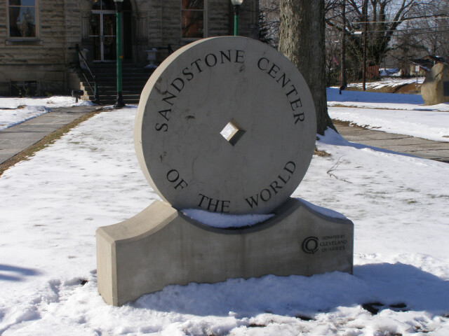 Amherst Ohio Grindstone Sign3 image