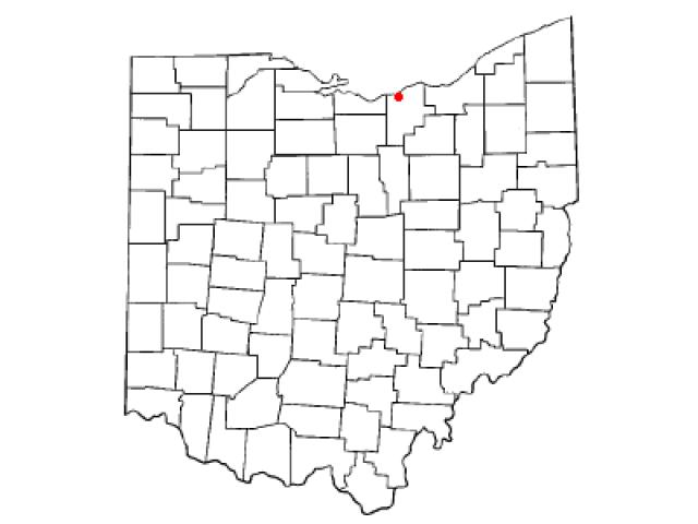 Amherst locator map