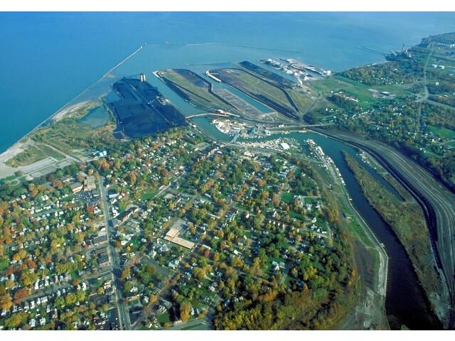 Ashtabula Ohio port aerial view image